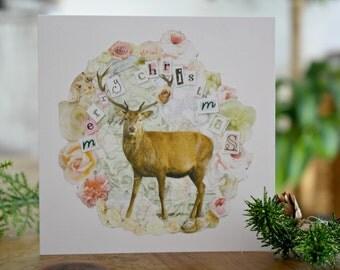Beautiful deer Christmas card