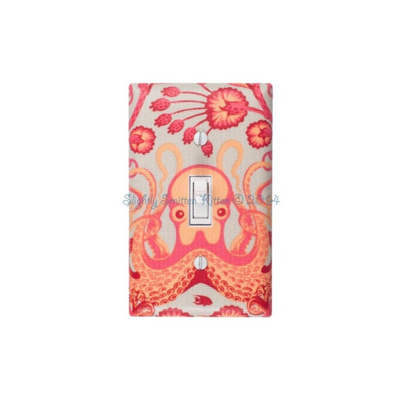 Octopus Light Switch Plate Cover Nautical Bathroom Decor Octo