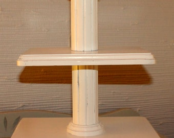 3 Tiered Cupcake Stand - Distressed White