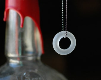 Bourbon Ball Chain Necklace | Upcycled Glass Bottle Jewelry