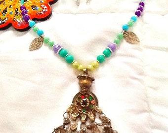SALE---- KUCHI DIVA Belly Dance Necklace- Middle Eastern Jewelry- Tribal Kuchi Jewelry- Bohemian jewelry- gypsy Jewelry