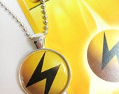 Electric Energy Pokemon Card Pendant Necklace