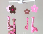 Baby mobile - Elephant Mobile - Giraffe  Mobile - Nursery Mobile - CUSTOMIZE....You can pick colors too :)