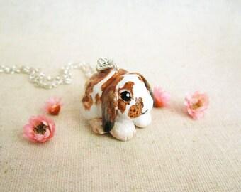 Bunny Rabbit Portrait Necklace