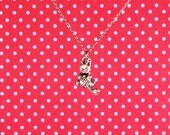 """Cat with Yarn 18"""" Charm Necklace"""