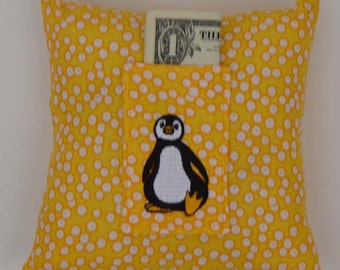 SALE Little Penguin Tooth Fairy Pillow