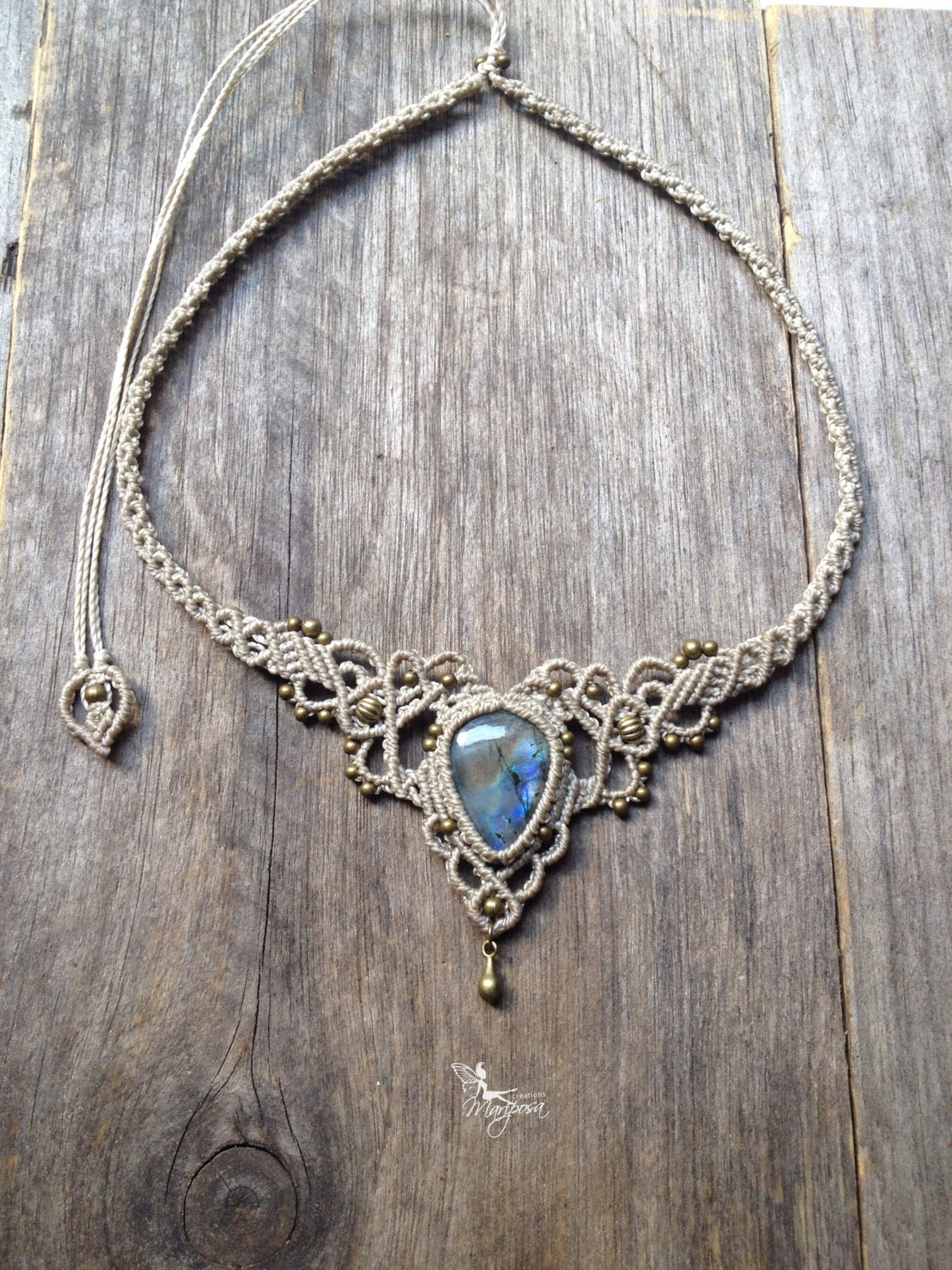 macrame necklace pattern micro macrame necklace labradorite elven tiara boho chic 6075