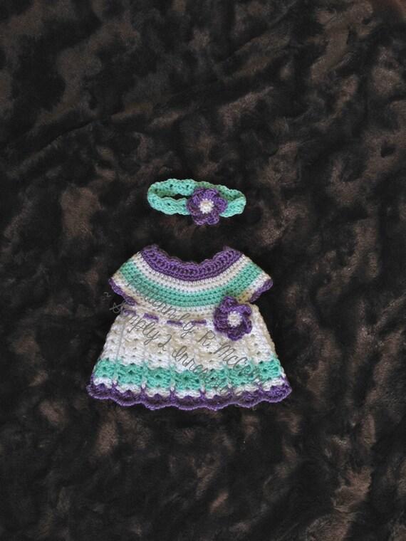 The Abigail Newborn Dress and Headband Pattern Newborn