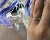 Tri-Texture Set of 3 16g Thick Sterling Silver Stacking Rings - custom made to order