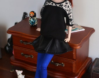Sparkly Blue Leggings for 12in Fashion Dolls