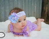My First Easter Headband - Babys First Easter Hair Bow - Lavender Purple Hair Bow - Easter Hair Clip - Newborn Headband - Infant Hair Bow