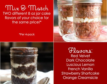 Mix and Match 8oz Jar Cakes - You Choose The Flavors