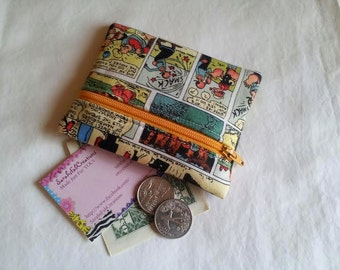 Coin Purse, Zipper Pouch, Change Purse, Wallet, Comics, King, Popeye, Olive oil, spinach