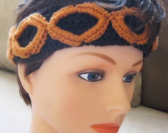 Circles Headband - Brown and Cider Tan
