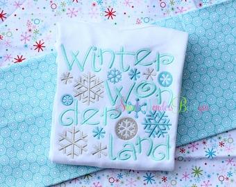 Winter Wonderland Embroidered Shirt - Christmas Shirt - Winter Wonderland- Girls Christmas Shirt - Holiday Shirt - Winter Shirt - Wonderland
