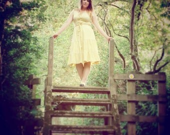 1970's Yellow Summer Dress