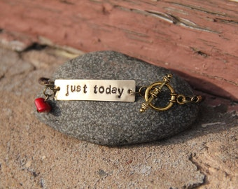 Just Today Handstamped Bracelet