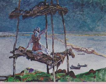 """Large """"Am Schwarzen Meer"""" by Heinrich Vogler Art Postcard - 1280"""