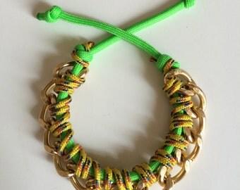Curb Chain Paracord Bracelet
