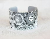Trending Bracelets - Lace Print Cuff - Trending Jewelry - Womens Fashion Trends - Chunky Cuff - Large Cuff Bracelet by Zoe Madison (280)