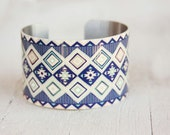 Tribal Bracelet - Trending Jewelry - Tribal Jewelry Trends - Fall Fashion Trends - Large Cuff Bracelet by Zoe Madison (312)