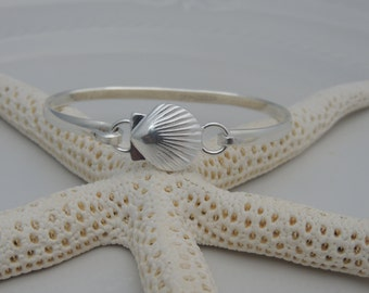 Sterling Silver Nautical Cuff Bracelet - Sand Dollar, Sea Shell, Starfish or Flip Flop - FREE SHIPPING