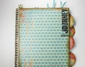 Multi-Colored Altered Notebook, Altered Notebook, Memory Book, Diary, Journal, Scrapbook, Special Notebook