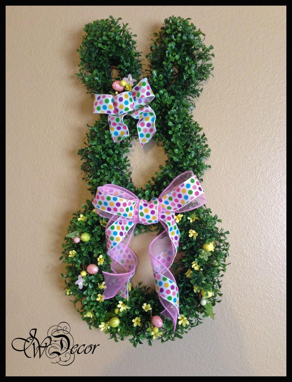 Easter Wreath Easter Bunny Wreath Boxwood Wreath Easter
