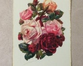 "Dollhouse Miniature Romantic, ""Shabby Chic Roses"", Scale One Inch"