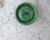 Clover Brand Valve Grinding Compound/St. Patrick's Day Decor/Kelly Green/Clover/Masculine Decor/Industrial Decor/Irish Decor