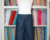 Girls' Ruffle pants - Available in denim and Christmas print - ready to ship in size 3T, 4, & 5!!!