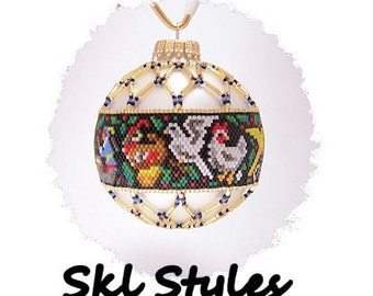 12 Days of Christmas - woven Delica beaded Christmas Ornament