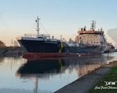 Welland Canal Photos, Port Colborne, Ontario Travel Photography, Nautical Prints, Ship Photography, Ship Art, Great Lakes Shipping Art