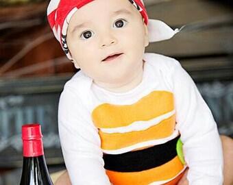 Baby Sushi Costume, Baby Halloween Costume, Sushi Costume, Funny Baby Costume, Baby Geekery