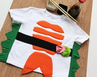 Sushi Costume, Toddler Halloween Costume, Sushi Costume Shirt, Funny Baby Costume, Food Theme Costume