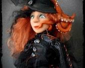 SALE- Polymer Clay Art Doll Sea Witch - Octavia