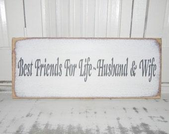 Wedding Sign Husband & Wife Sign Wedding Photo Prop Signs