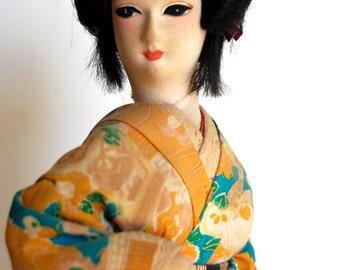 Vintage Geisha Doll, Elegant