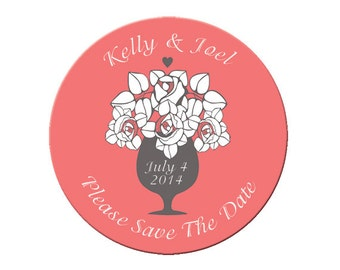 Wedding Save the Date, Save the Date Magnet, Save the Date, engagement, Magnet, Wedding Announcement, Custom, Personalized,Wedding (4140)