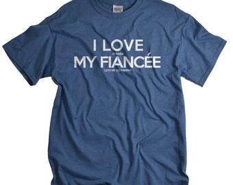 Fishing gift for Fiancé t-shirt fishing Tshirt I Love My Fiancé Fishing Gift for men Engagement gift for Fiancé