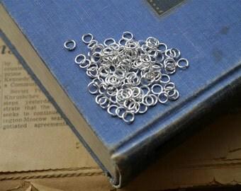 200pcs 5mm Silver Open Jump Rings (SF2038)