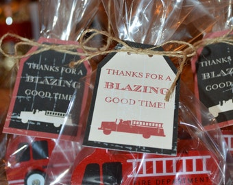 Printable Fireman Party Favor Tags - LOVELY LITTLE PARTY