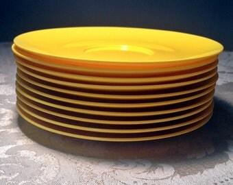 Vintage Melamine Golden Yellow Saucers / Royalon Melmac Plates
