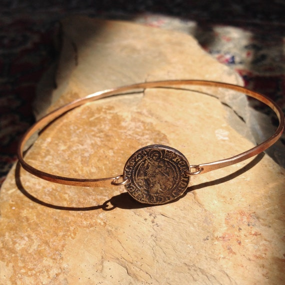 Archangel Charmed Bangle in Bronze
