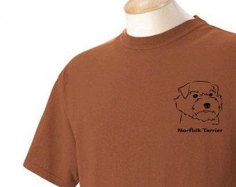 Norfolk Terrier Garment Dyed Cotton T-shirt