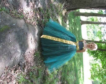 merida princess dress, merida princess costume, Brave dress, disney princess dress, disney princess costume,flower girl dress, tulle dress