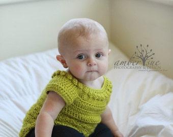 Crochet Sweater Tunic for Baby Girls / Toddler