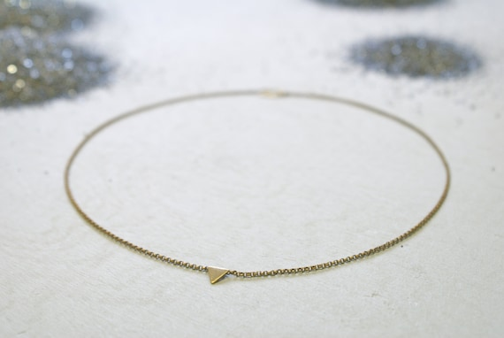 the Tiny Triangle necklace