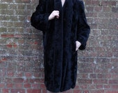 Miss Tierney Regrets - 1940s/50s Black Swing Coat. Extra Large.