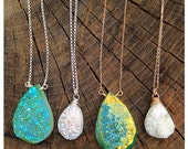 items similar to aaa druzy necklace sterling or gold